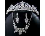 Buy CRYSTAL  FRESHWATER PEARL WEDDING JEWELRY with TIARA Set