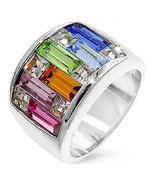 Candy Maze Multicolored Swarovski Crystal Ring ... - $34.00