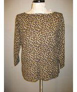 Charter Club Leopard Print Knit Top Size XL NWT - $21.00