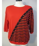 Addition Plus Red And Black Knit Top Size 22W New - $14.00