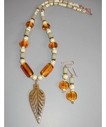 Handmade Lampwork and Bone Necklace Out of Africa - $35.00