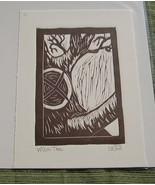 Nancy Drew inspired linocut print Witch Tree (b... - $10.00