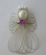 Birthstone Angel Ornament Handmade - $6.20