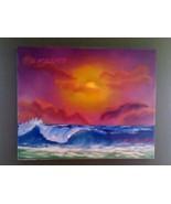 Seuss Beach Original Landscape Oil Painting by ... - $120.00