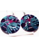 Beautiful Oriental Design shell earrings - $6.50