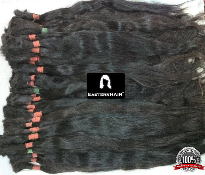 Virgin Human Hair Ponytails, Long remy Russian Human Hair Wholesale Ponytails