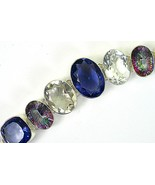 Clear + Pink Gold Mystic Topaz with Blue Iolite... - $191.04