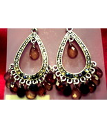 Chandelier earrings multi color beads - $2.02