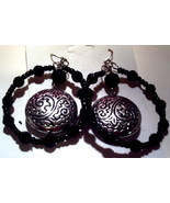 Black and silver hoops - $1.42