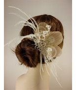 Bridal Feather Fascinator, Bridal Fascinator