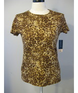 Jones New York Signature Collection Leopard Top... - $19.00