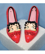 Betty Boop face Red High Heel Shoes pumps set 2... - $19.77
