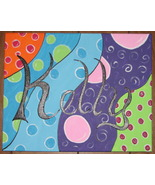 Personalized 16 X 20 canvas painting, add your own name, you can choose colors