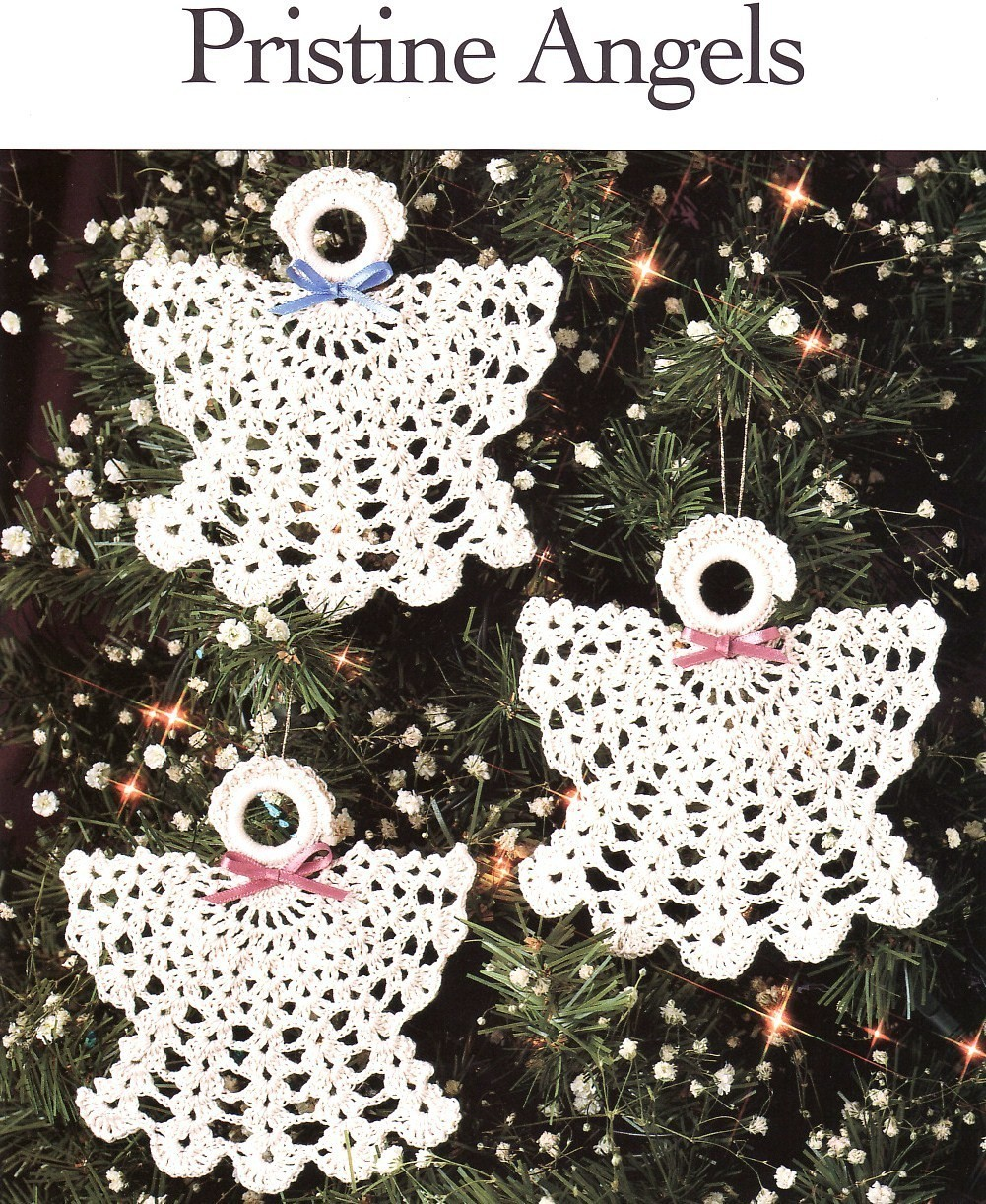 Free Crochet Cotton Christmas Patterns : Pristine Angels Crochet Patterns Christmas Ornaments ...