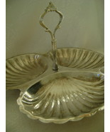 Serving Dish, Silverplate, 3 Seashell Sections,... - $15.00