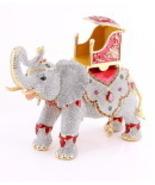 AB1053A-3  Silver Swarovski Crystal Elephant Je... - $1,040.00