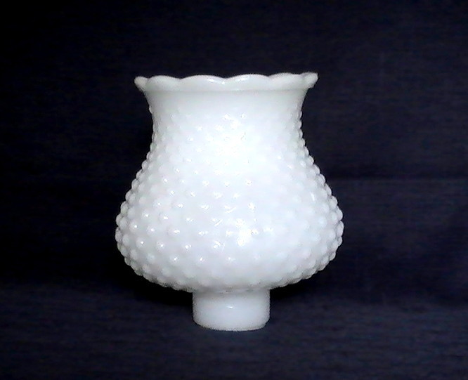 Milk Glass Shade Hobnail White 1 5 8 Inch Fitter X 5 25 X 3 75