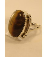 Ring Navaho sterling silver ring with tiger eye... - $35.00