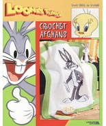 Looney Tunes Afghan Crochet Patterns Book Bugs Bunny Tweety Bird Taz Sylvester   - $29.99