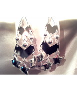 Star Silver dual layer dangle earrings - $0.99