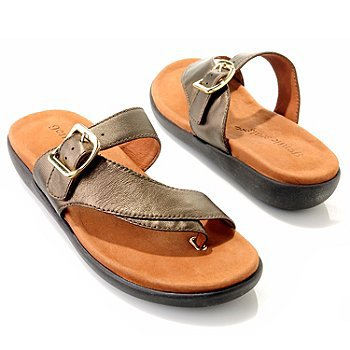 "Gentle Souls by Kenneth Cole ""Seagol"" Leather Thong Sandals  Size 9"