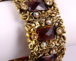 Brand new must have cuff bracelet brown flowers - free shipping - one size fits all