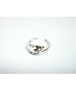 Sterling Silver Cute Dolphin Adjustable Toe Ring - $9.00