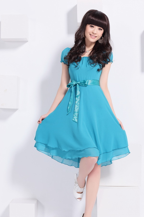 2012 new snow to restore ancient ways short sleeve dress