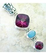 Purple Amethyst Kaleidoscope Cut with Blue Fire... - $64.26