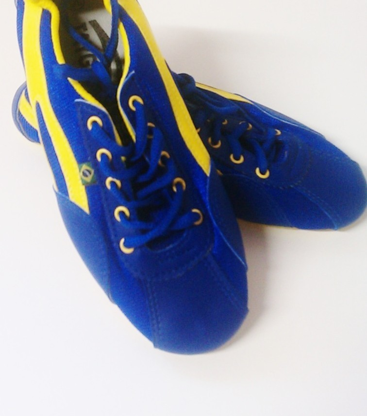 Taygra Brasil blue & yellow Brazil Hallmark Shoes Size 35 Unisex