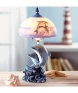 Desk Table Lamp Light Base is Dolphins Statue - $27.50