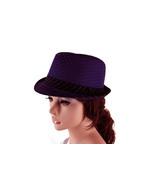 Fanciful Fedora in Dark Purple - $26.99