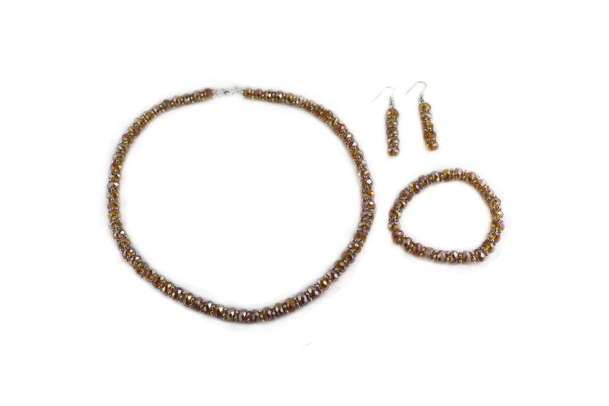 Royal Jewelry Set in Gold Crystal