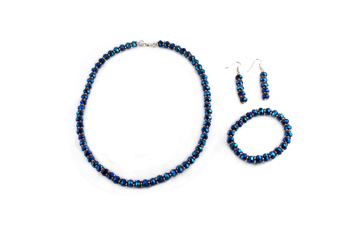 Royal Jewelry Set in Peacock Crystal