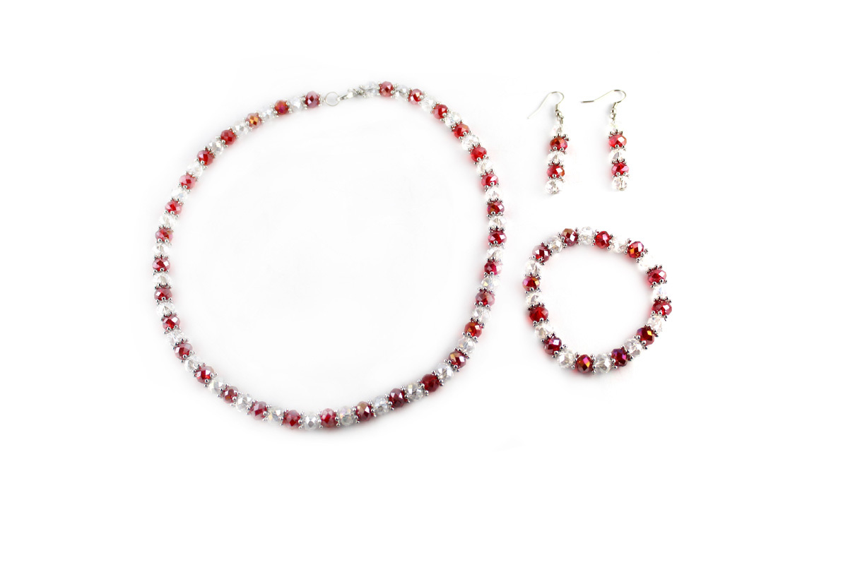 Royal Jewelry Set in Candy Cane Stripe Crystal