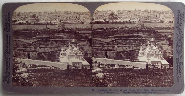 4 Stereo Views Jerusaleum Palestein Area 1900s