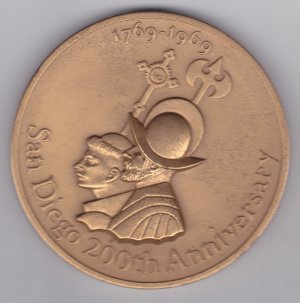 San Diego 200th Anniversary Medallion