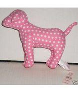 VICTORIA'S SECRET Plush DOG PINK white Dots w/h... - $44.99