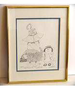 Signed Nedobeck Original Print,Framed ~Matted  - $41.40