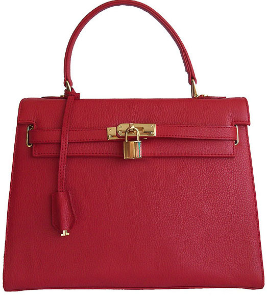 Carbotti Designer Style Kensington Cherry Red Leather Handbag