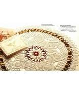 X134 Crochet PATTERN ONLY Noel Centerpiece Doil... - $7.45