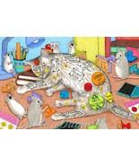 4x6 Art print Cat 468 mouse fantasy OSWOA by Lu... - $7.99
