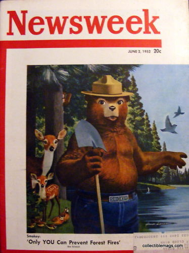 Buy newsweek magazine - Newsweek Magazine,June 2,1952 Forest Fire Remedy:Smokey
