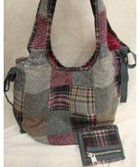 American Eagle Outfitters Grey Patchwork Purse ... - $8.49
