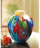 Floral Fantasia Art Glass Vase - $42.00
