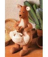 X831 Crochet PATTERN ONLY Mama Kangaroo and Bab... - $8.45