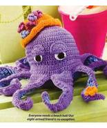 X896 Crochet PATTERN ONLY Octopus Toy Doll with... - $11.45