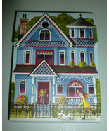 PUNCH STUDIO POCKET PETITE VILLAGE BLUE VICTORI... - $5.99