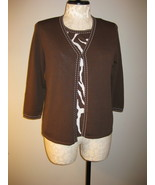 Alfred Dunner One Piece Twinset Look Size L NWT - $26.00