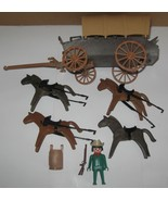 Playmobil Covered Wagon And Horses 3243 Vintage... - $49.99
